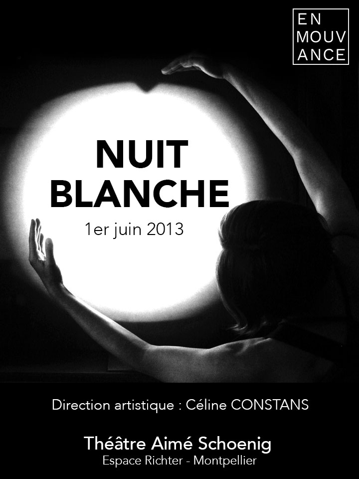 Spectacle Nuit Blanche Affiche