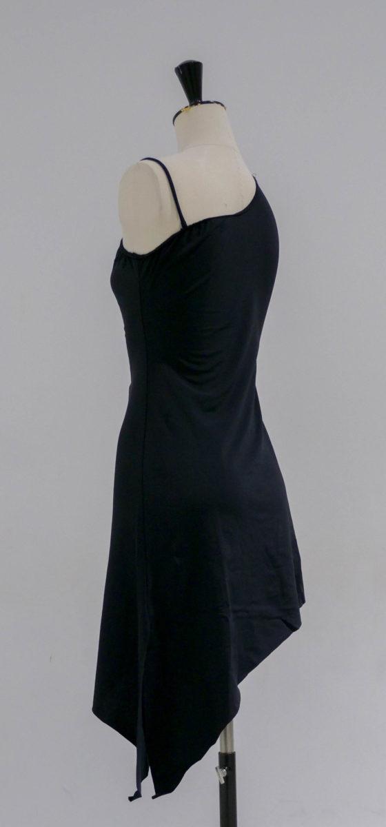 Robe noire lycra asymétrique-002-dos