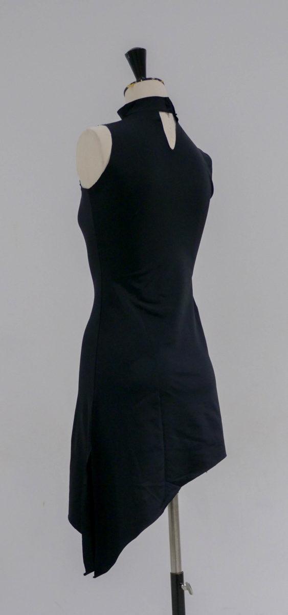 Robe noire lycra asymétrique-003-dos