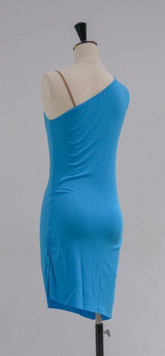 Robe turquoise dos