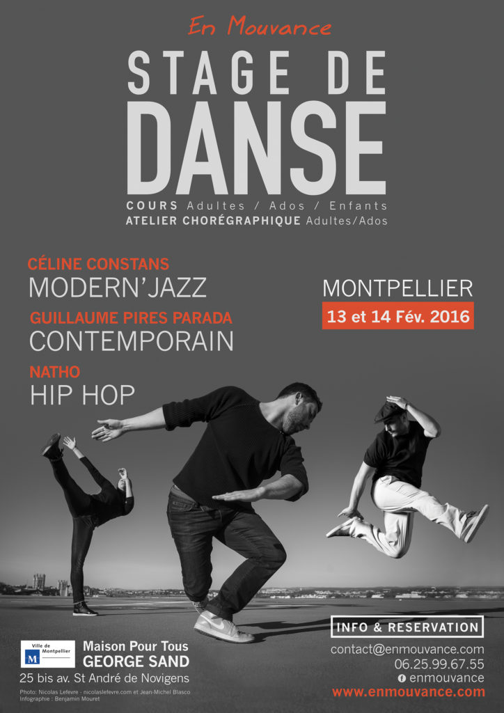 Affiche Stages de danse 2016