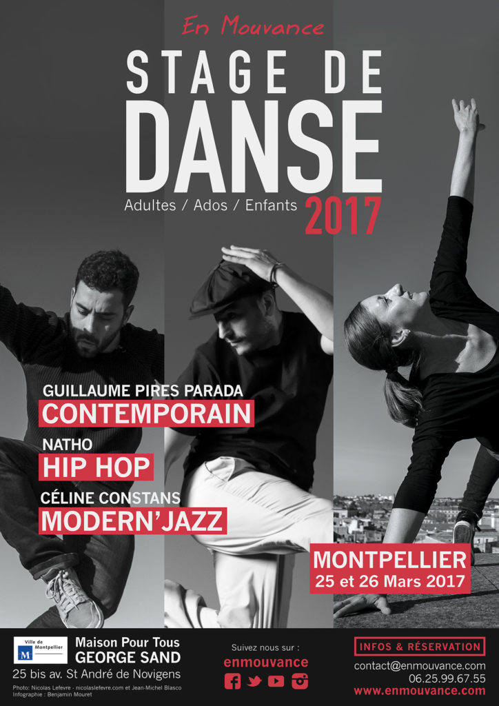 Affiche Stages de danse 2017