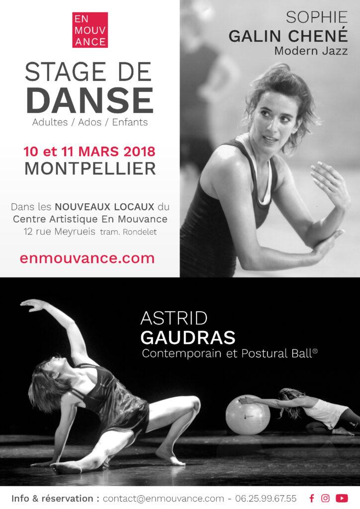 Affiche Stage de Danse En Mouvance 2018