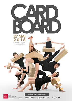 Affiche Cardboard Spectacle de danse 2018