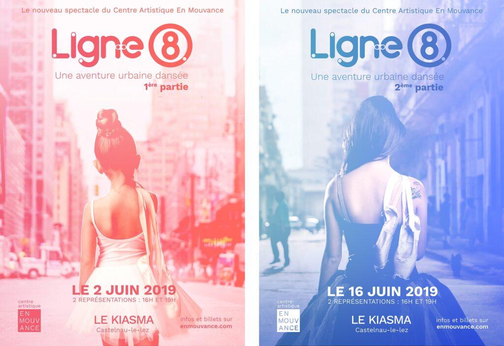 Affiches Spectacle de danse Ligne 8