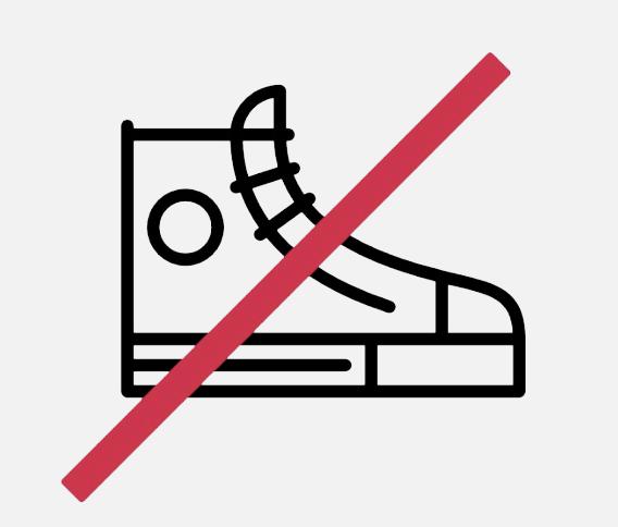 shoes forbidden