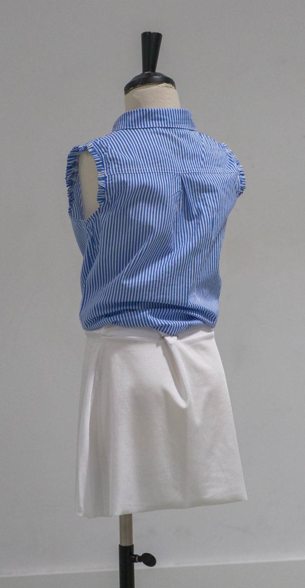 Chemise bleue rayée dos