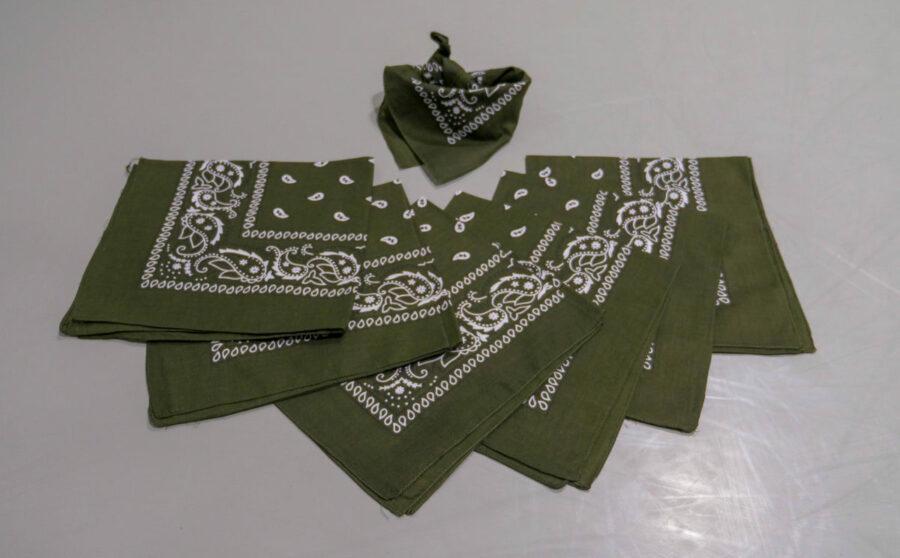 Bandanas verts (x7) 1