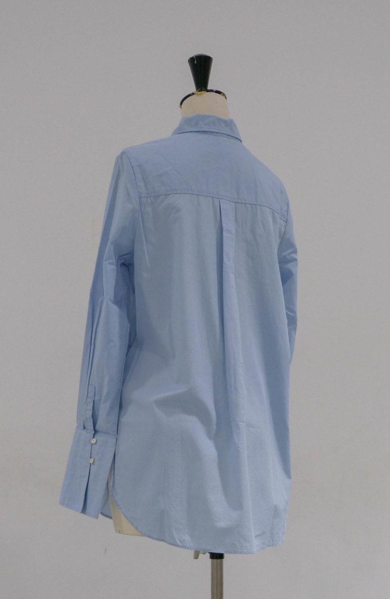 chemise bleue dos
