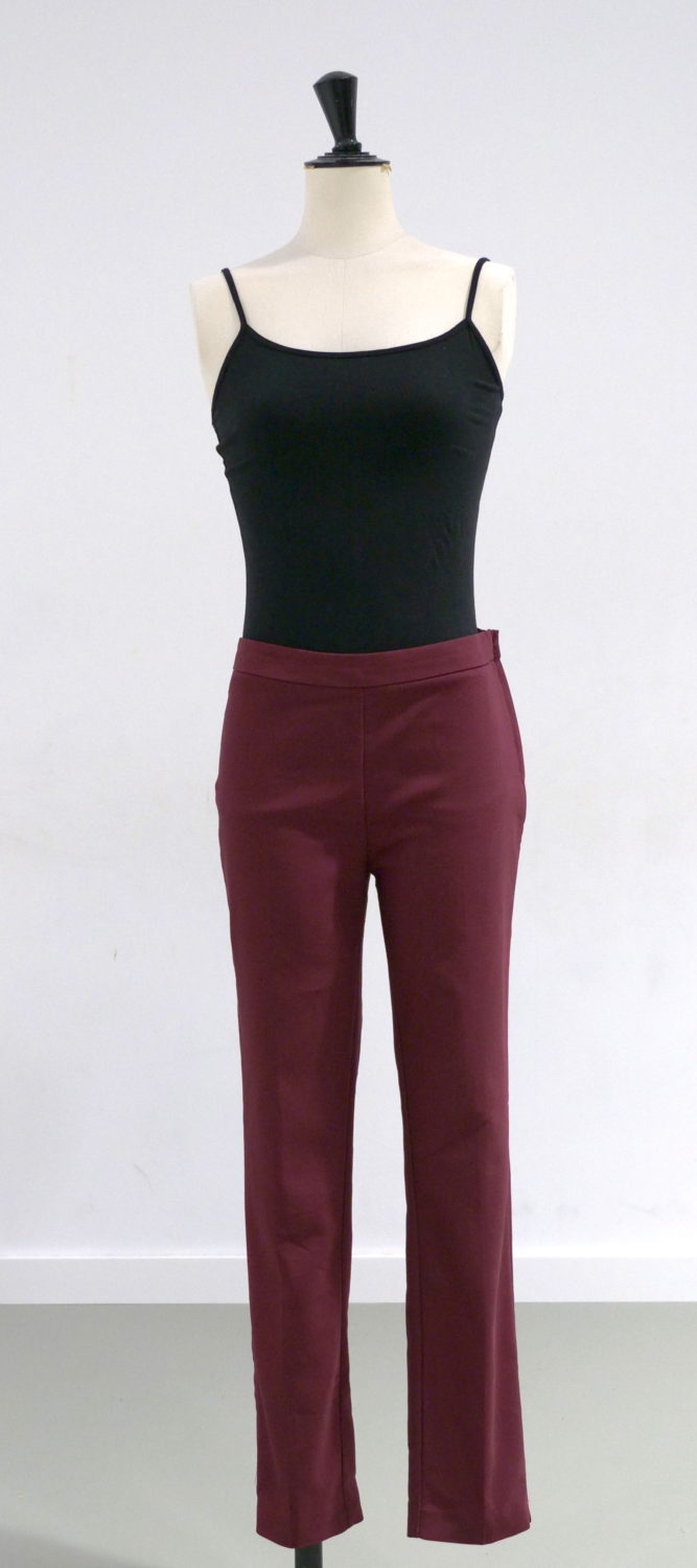 pantalon bordeaux face