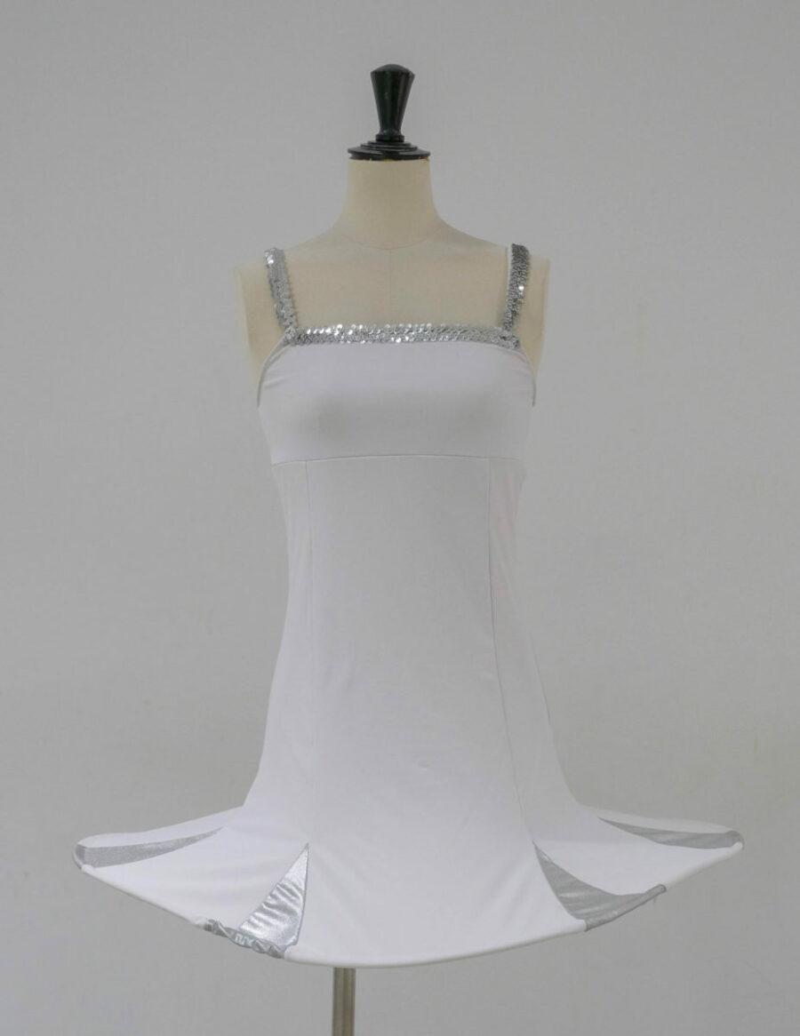Robe cerceau blanche-argenté (x7) 1