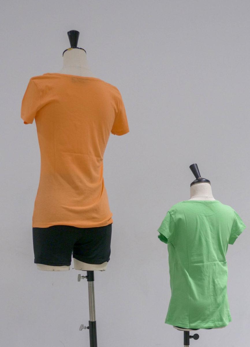 tshirts colorés dos