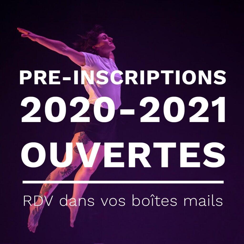 Pré-inscriptions 2020-2021 ouvertes ! 2