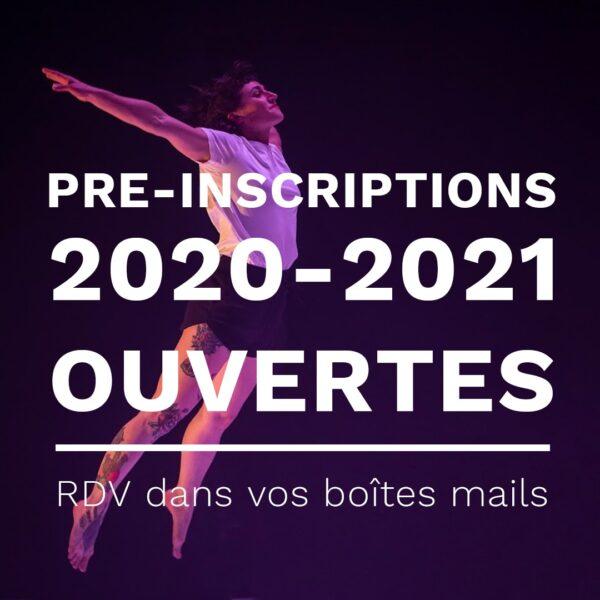 Pré-inscriptions 2020-2021 ouvertes ! 1