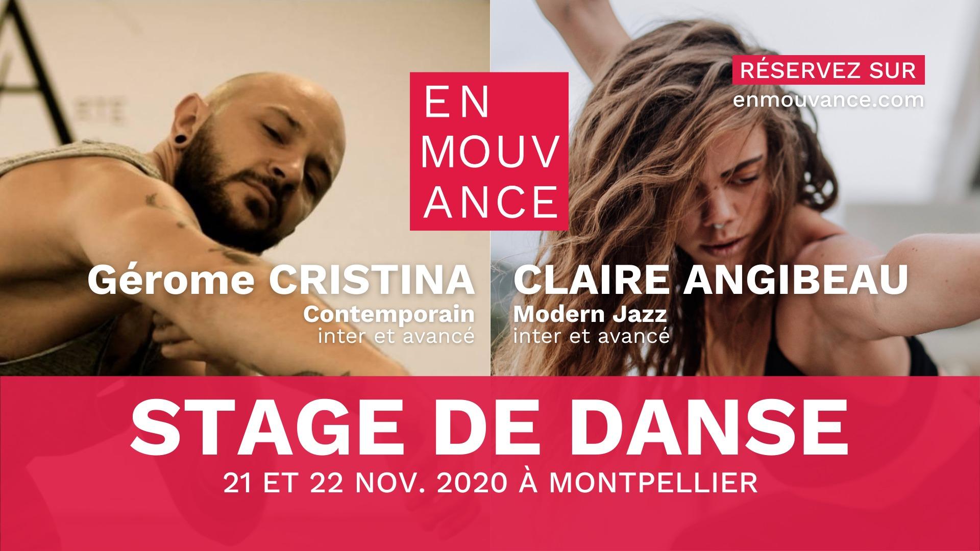 Stage de danse Gérome Cristina et Claire Angibeau